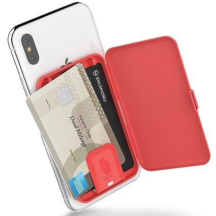 Sinjimoru Smartphone Kartenetui Kartenhalter Kartenfach Fürs Handy Kreditkartenetui Visitenkartenetui Smart Wallet Handy Kartenhalter Handy
