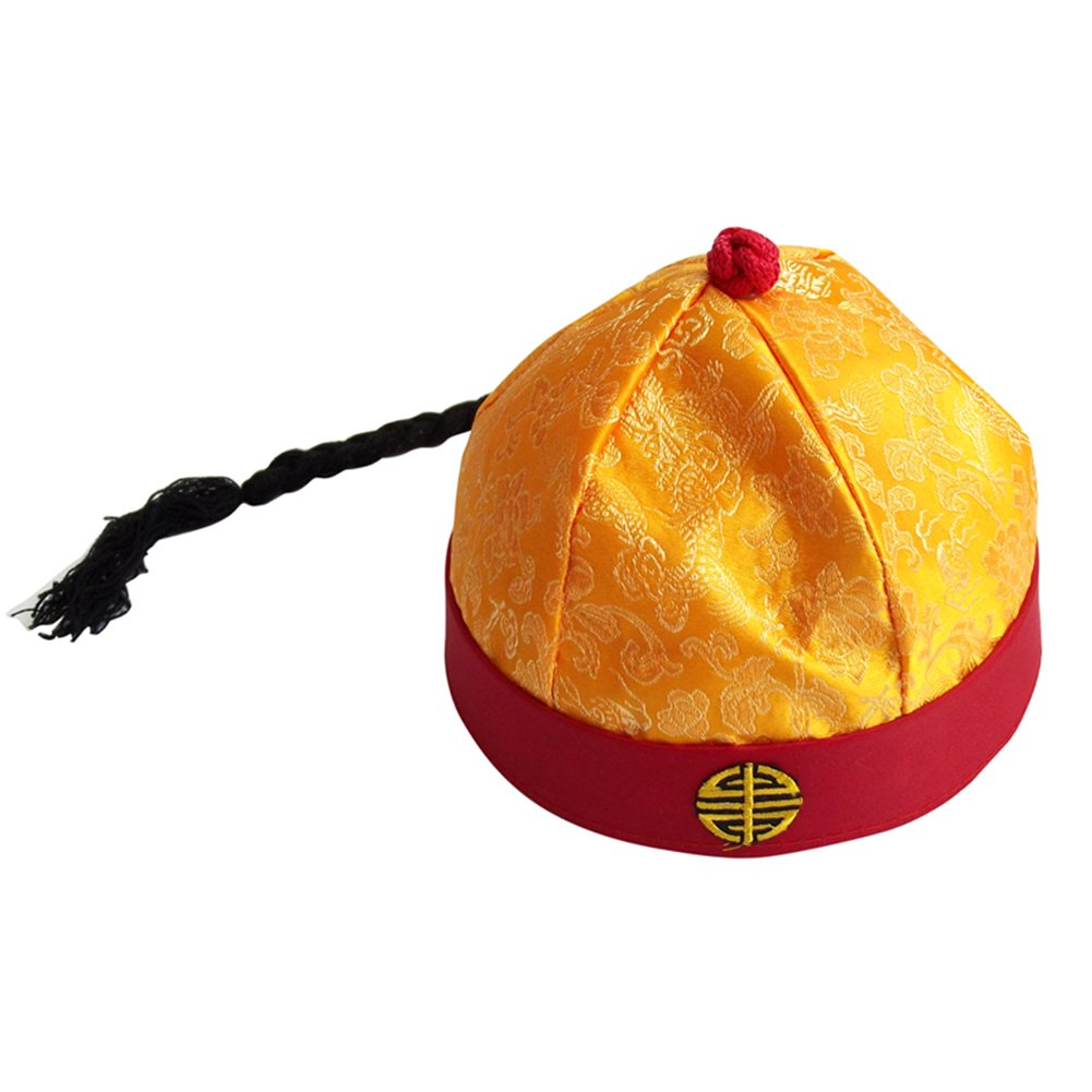 Sunny Hill Ancient Chinese Royal Emperor Hat Role Play Decorative Cosplay Hat (Adult)