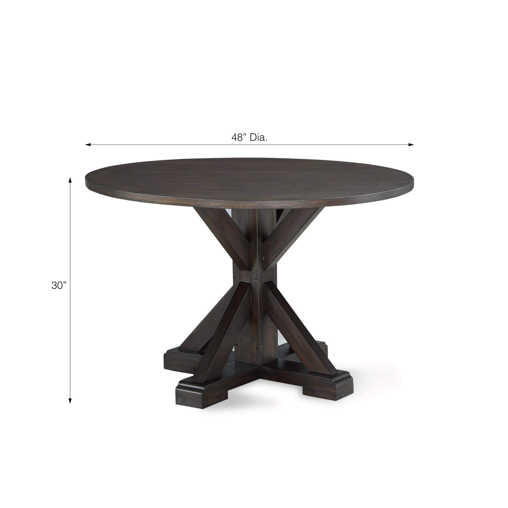 Dorel Living DA8135T Lanley Round, Rustic Brown Dining Table, by Dorel Living (Image #5)