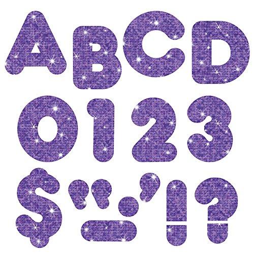TREND enterprises, Inc. Purple Sparkle 3 Casual UC Ready Letters