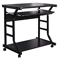 Costway.com deals on Costway Home Office Workstation Rolling Computer Desk