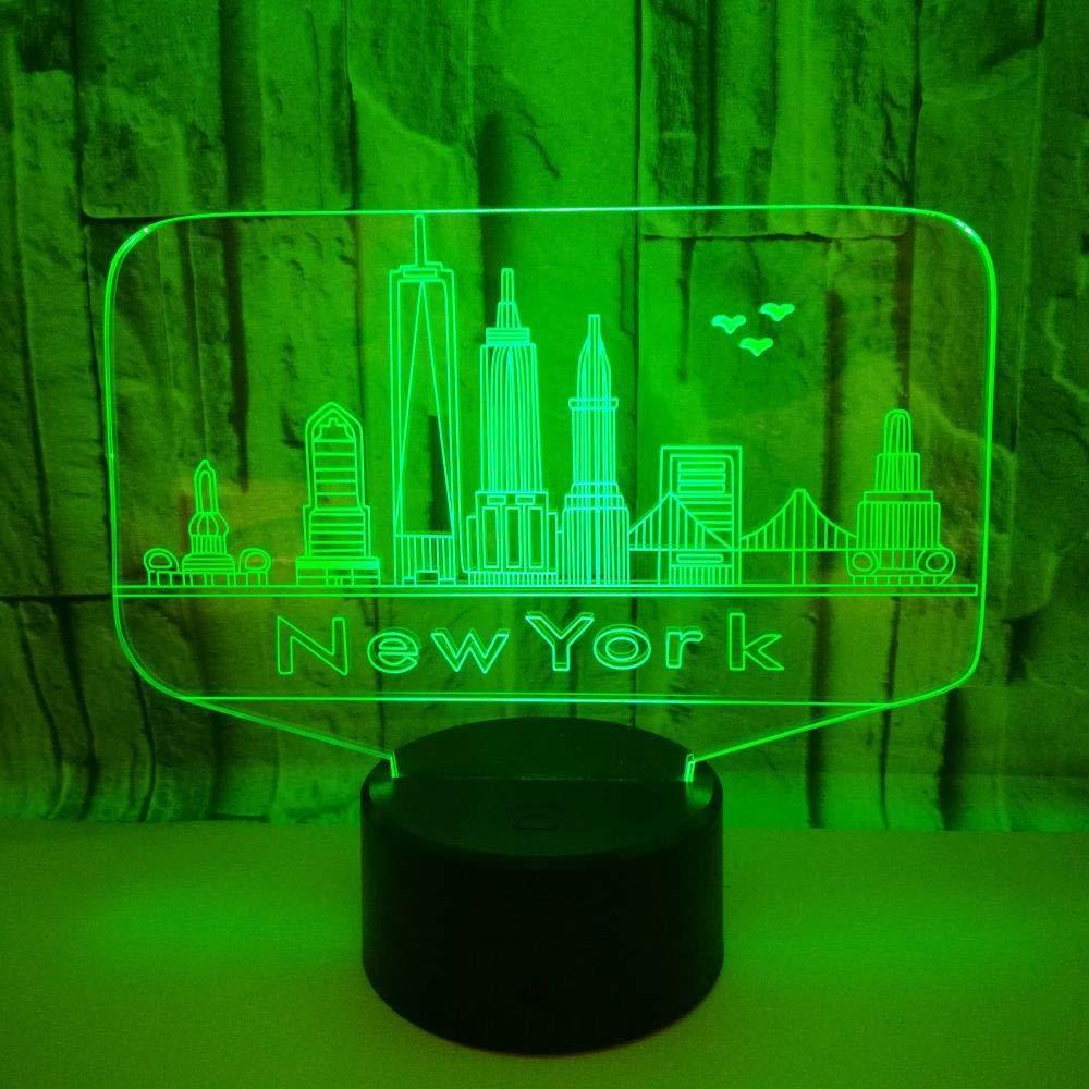 3D Nachtlampe stereoskopisches Licht der Note LED intelligentes Hauptdekorationbeleuchtungsgeschenk Gebäude