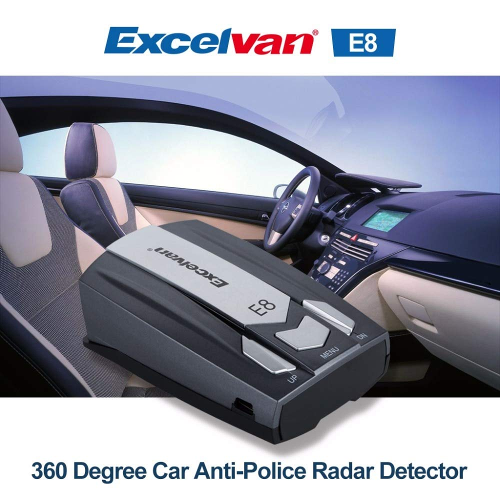 Amazon.com: China : Clear Stock Excelvan E8 Car Radar Detector 360 Degree 16 Full Band Speed Safety Anti-Police Scanning Advanced Voice Alert Laser: Home & ...