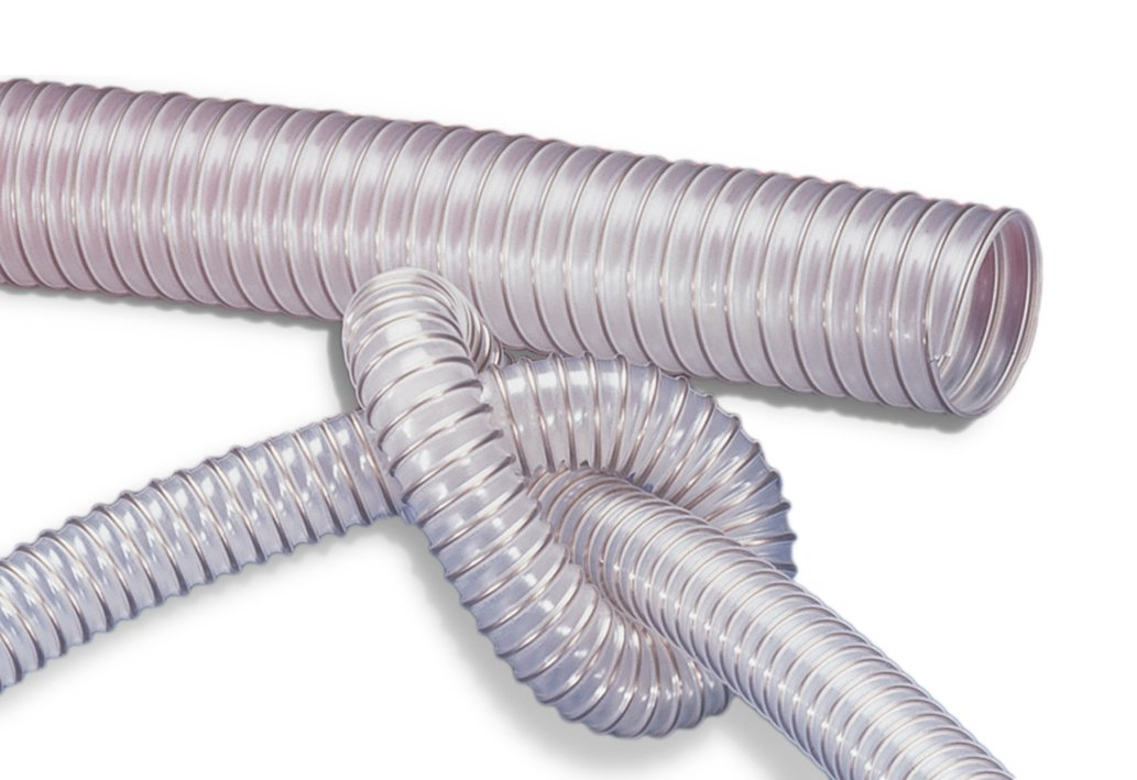 PU Flexible Ducting Hose, 100mm ID x 3m Length - Fully Antistatic Polyurethane - Dust & Fume Extraction, Woodworking, Ventilation Thorne