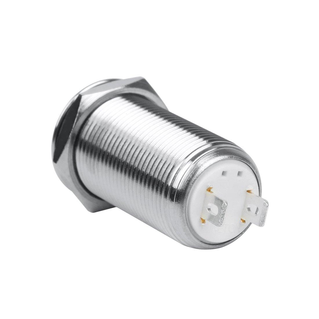 Larcele 5x Imperm/éable Interrupteurs /à Bouton-Poussoir Metal DIY /électriques Bouton-poussoir Commutateur jsankg-01 Non-momentan/é,16mm