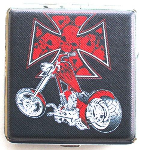 (Cigarette Case Chopper Motor Cycle Renegade Classics Red Cross)