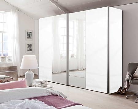 2-puertas. Armario de puertas correderas en colour blanco, para las puertas de lacado de colour