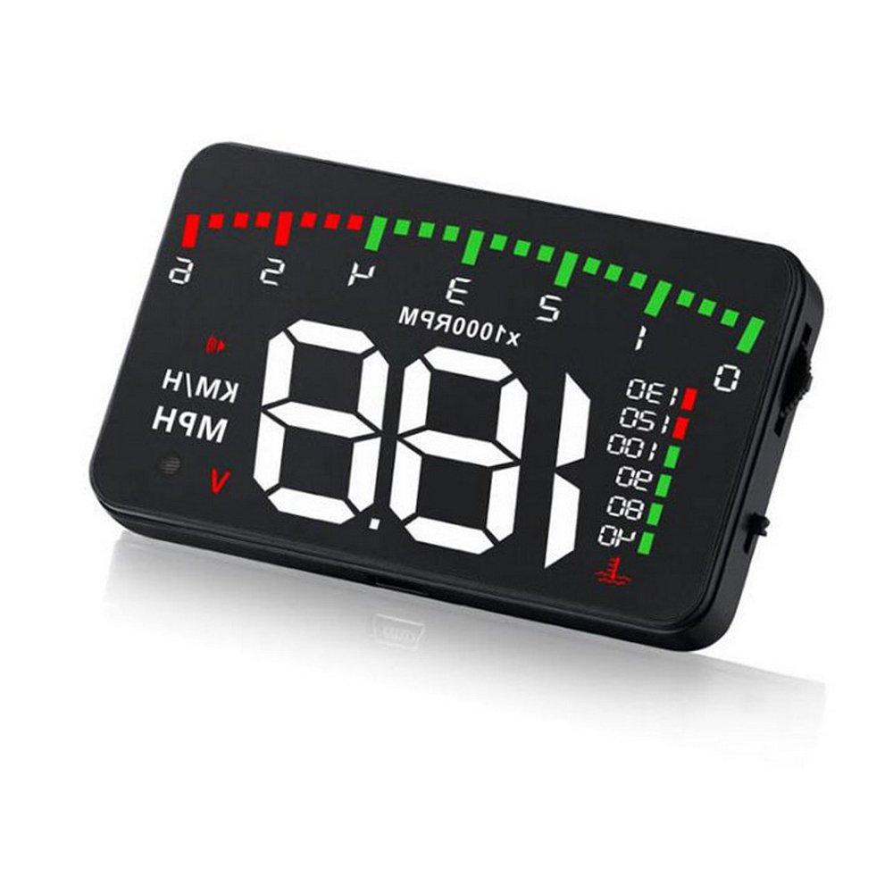 Polarlander Car HUD Head Up Display Windshield Digital OBD2 II Speedometer KM/h Speed Warning Alarm Universal Car HUD A900 3.5Inch
