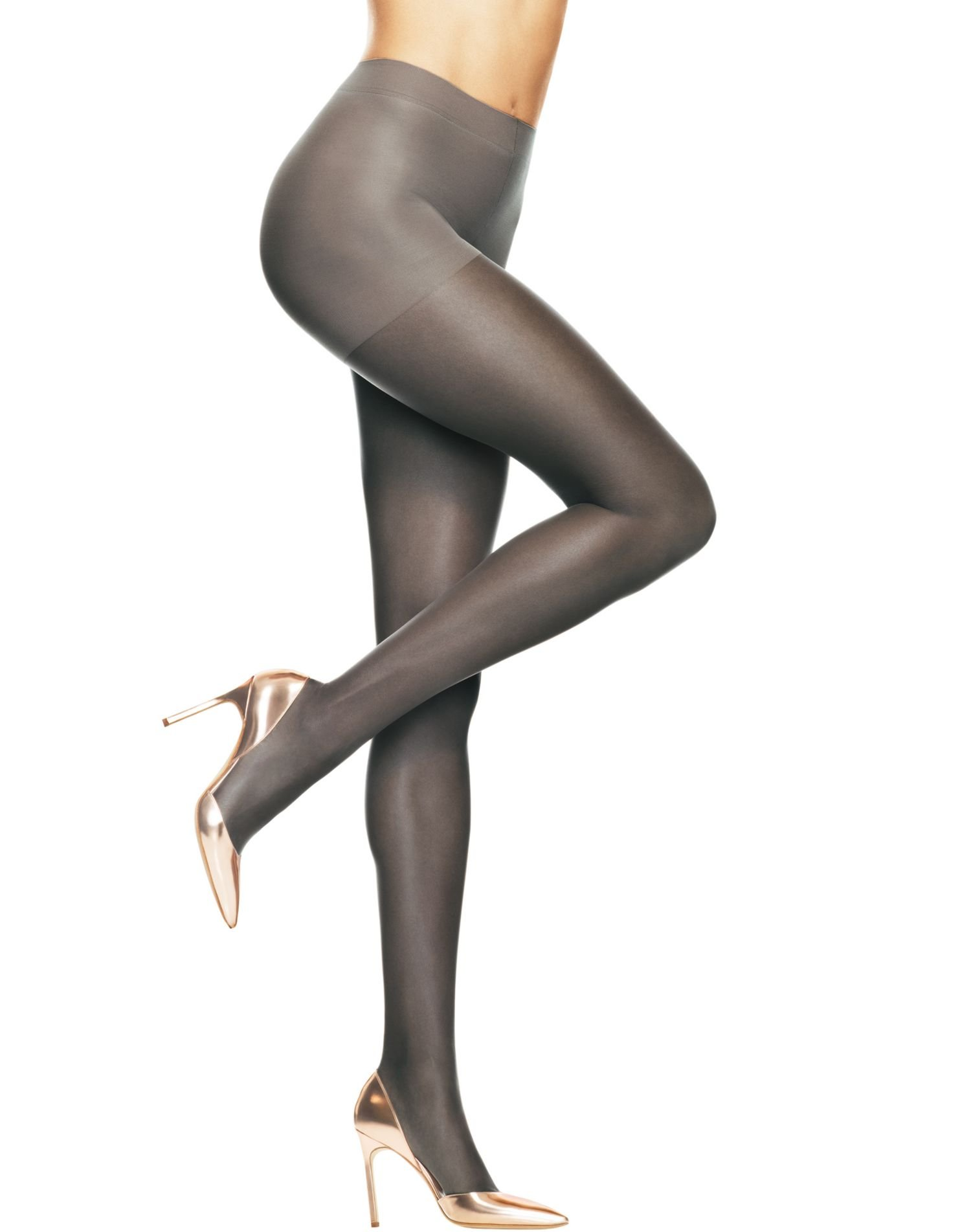 Hanes Women`s Set of 3 Absolutely Ultra Sheer Control Top Sheer Toe Pantyhose E, Barely Black