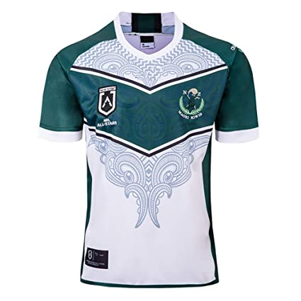 AFDLT Rugby Jersey,2019 Copa Mundial Maori All-Star,Casual Redondo ...