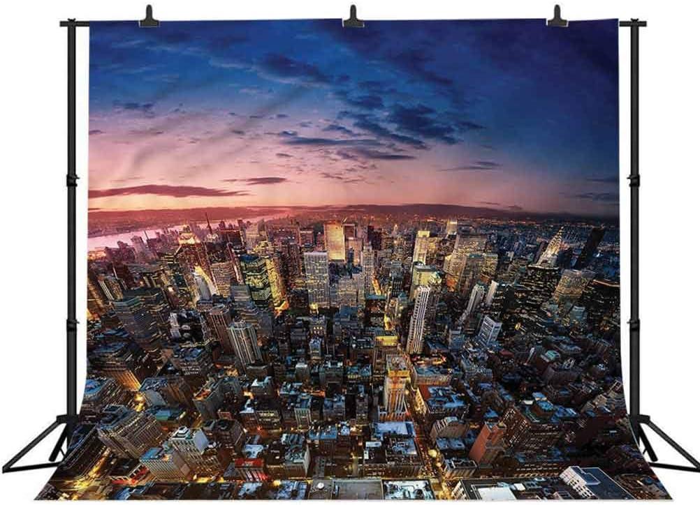 5x5FT Vinyl Wall Photography Backdrop,NYC,Metropolitan Downtown Roofs Photo Backdrop Baby Newborn Photo Studio Props