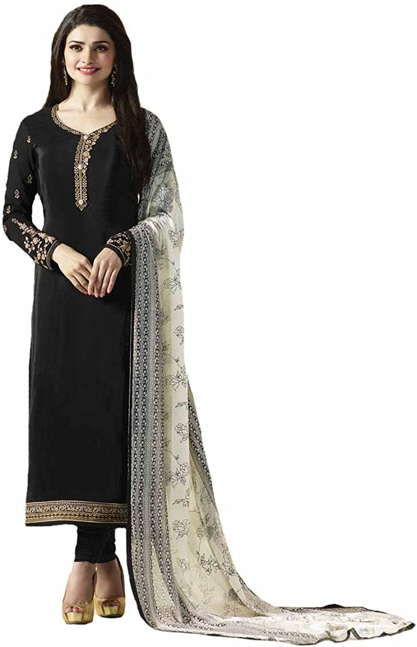Amazon Com Ready Made New Designer Indian Pakistani Fashion Salwar Kameez For Women Black X Large 44 Clothing