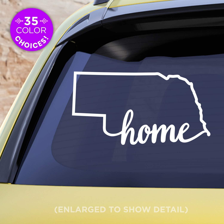 Nebraska NE State Outline Vinyl Decal Sticker