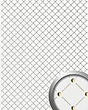 WallFace 17856 3D Wall panel self-adhesive Mosaic decor Luxury wallcovering self-adhesive pearlwhite gold | 2,60 sqm