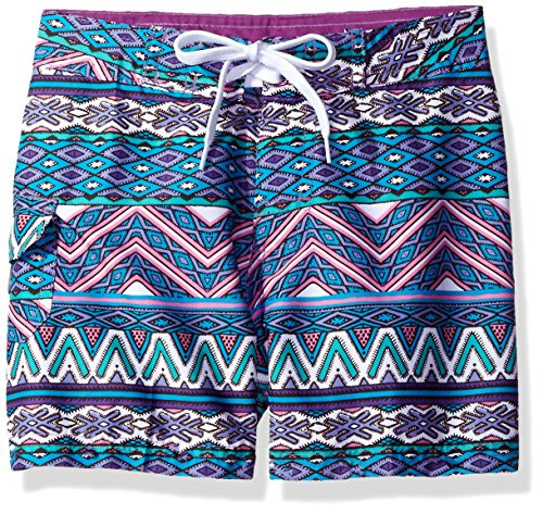 Kanu Surf Big Girls' Carrie Boardshort, Purple, Medium (8/10)
