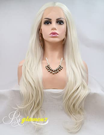 Synthetic Wigs Collection Here Imstyle Blonde Synthetic Lace Front Wig Long Wavy Wigs For Women Heat Resistant Fiber Natural Hairline Lace Wig Cosplay Wig