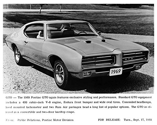 1969 Pontiac GTO Hardtop Automobile Photo Poster