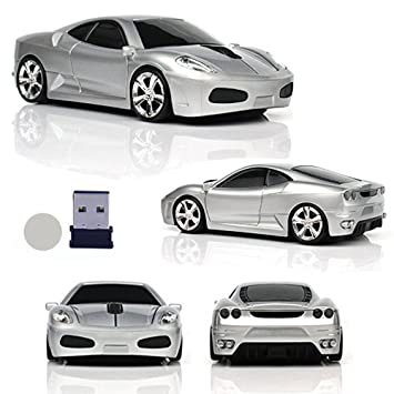 cd48d24a036 UrChoiceLtd® Car Mouse, 2.4GHz Wireless Mouse 3D 1600DPI Fashion Sports  Racing Car Shape