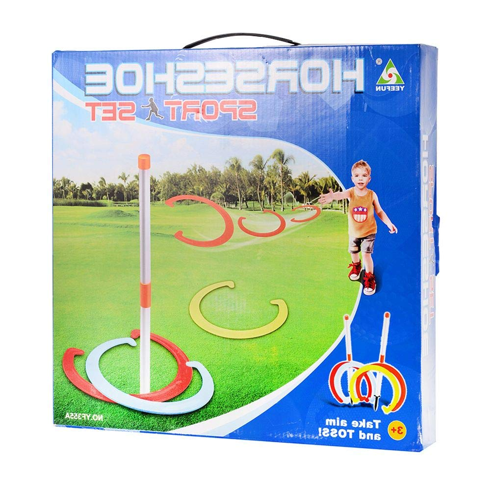 HealthyBells Horseshoe Play Set Toss Games Sports Toys Classic Sports Playground US