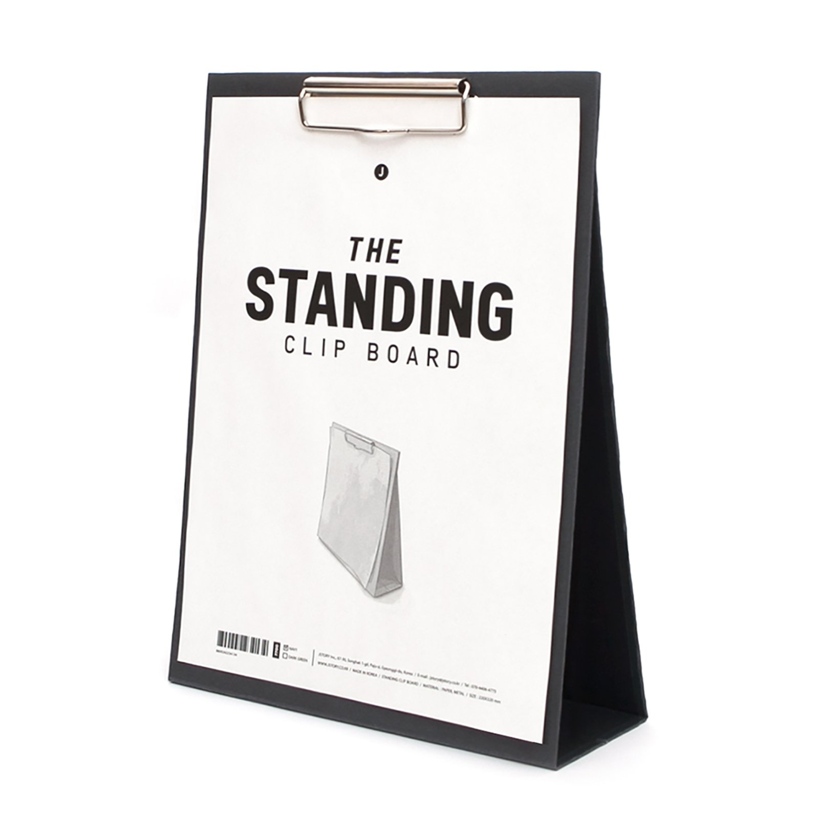 JSTORY Large Standing Clip Board Large Navy