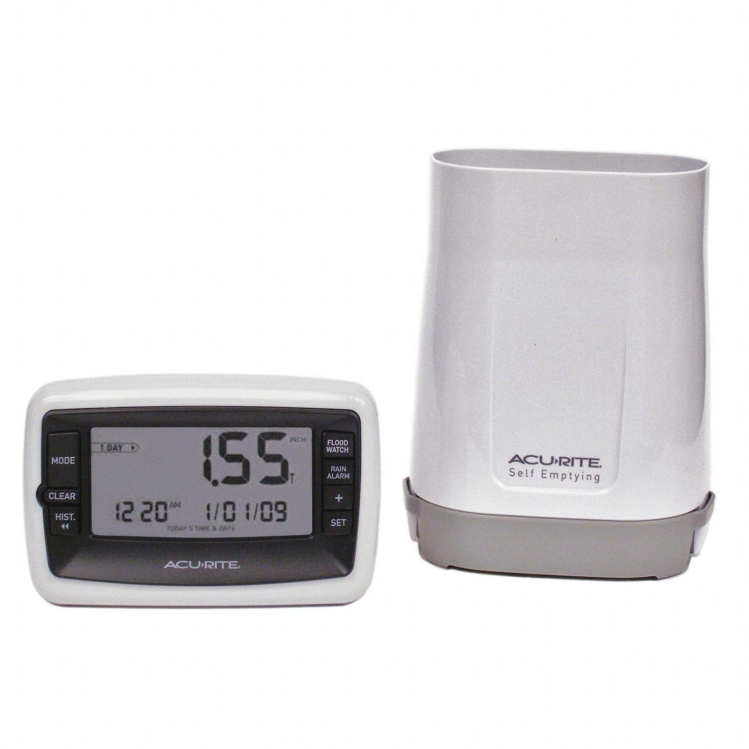 Rain Gauge, 0 to 99.9'' Range, LCD Display