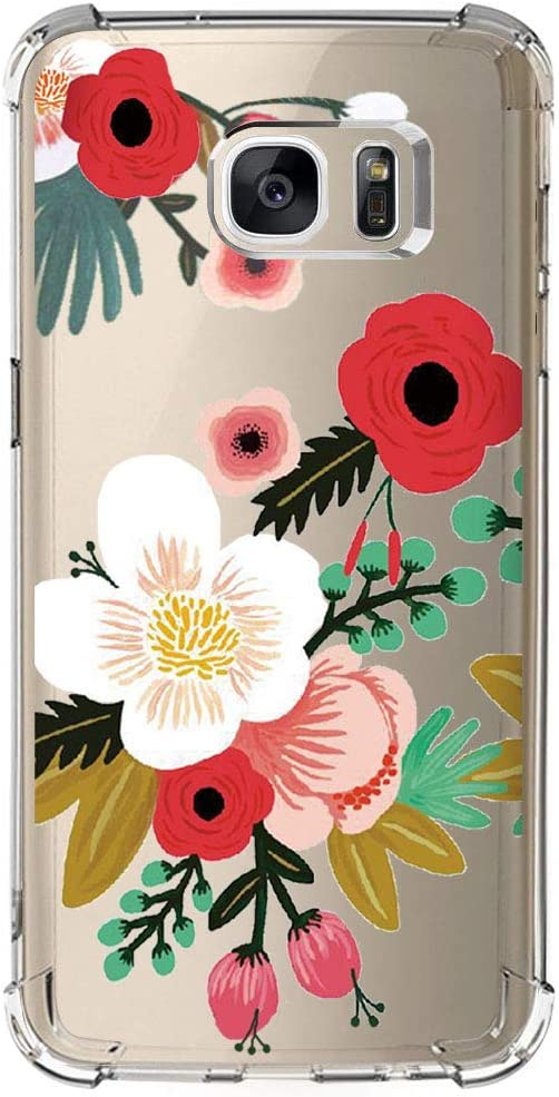 Amazon Com Samsung Galaxy S7 Case With Flowers Iessvi Girl Floral Pattern Clear Tpu Soft Slim Phone Case For Samsung Galaxy S7 17