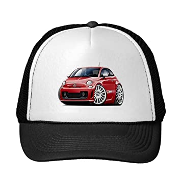 Funny Fiat 500 Abarth Red Car Trucker Hat Amazonde Sport Freizeit