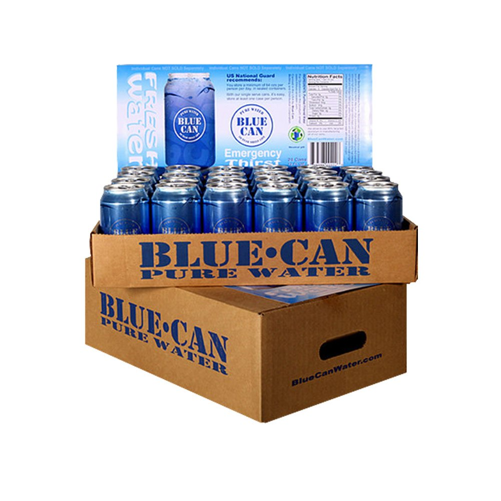 Blue Can - Premium Emergency Drinking Water (48 Cans)