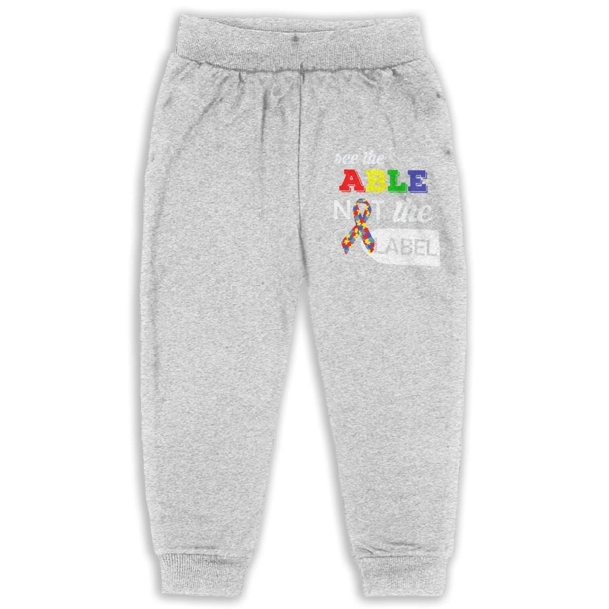See The Able Not The Label Autism Awareness Unisex Kid Toddler Pants Soft Cozy Boys /& Girls Elastic Trousers