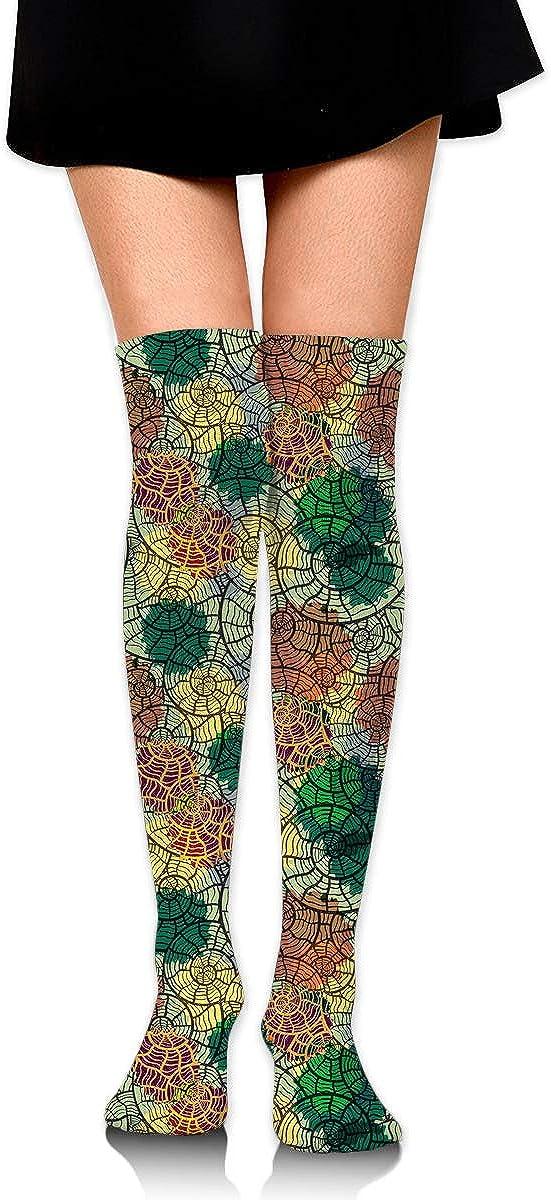 Womens//Girls Sea Shells Casual Socks Yoga Socks Over The Knee High Socks 23.6