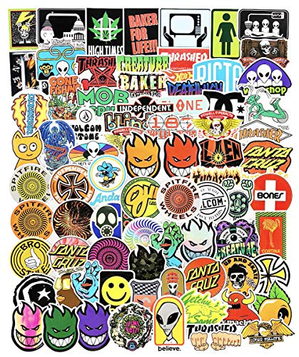 🥇 Cool Skateboard Brand Stickers Pack for Laptop Car Water Bottles Skate Bike Luggage Helmet Phone Vinyl 100pcs