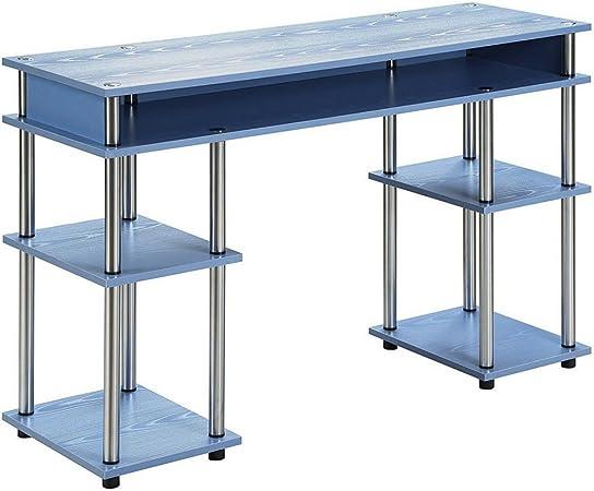 Easy&FunDeals Mesa de escritorio estrecha con 5 estantes, de ...