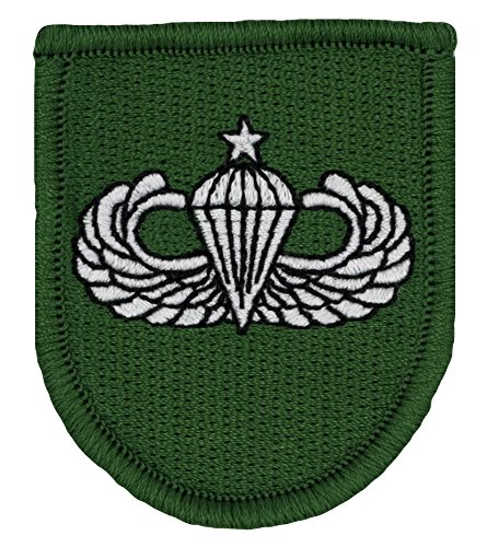 10th Special Forces Group Beret Flash - w/ Senior Airborne Wings Embroidered Patch 2