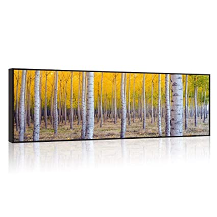 1f9a7bcbf7e Amazon.com  Large Size Autumn Forest Canvas Wall Art Prints