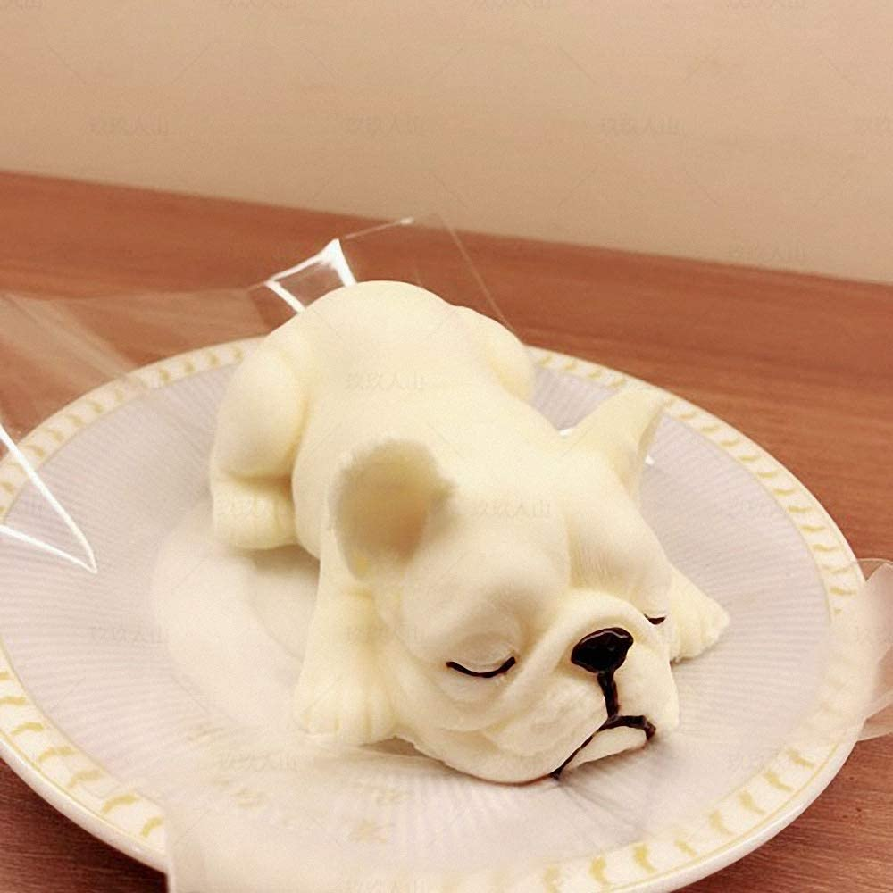 3D French Bulldog silicone mold fondant cake mold chocolate mould Gum paste mould Resin