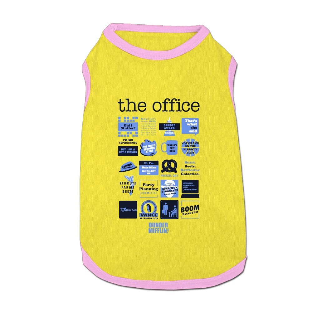 8aed5ee6a Dog T-Shirt Clothes The Office Unisex Quote Doggy Puppy Tank Top Pet Cat  Coats