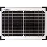 12V 10W Solar Panel Kit with Support Leg Caravan Camping Power Battery Charging