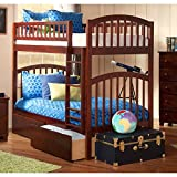 Richland Twin over Twin Bunk Bed | Urban Bed Drawers | Antique Walnut
