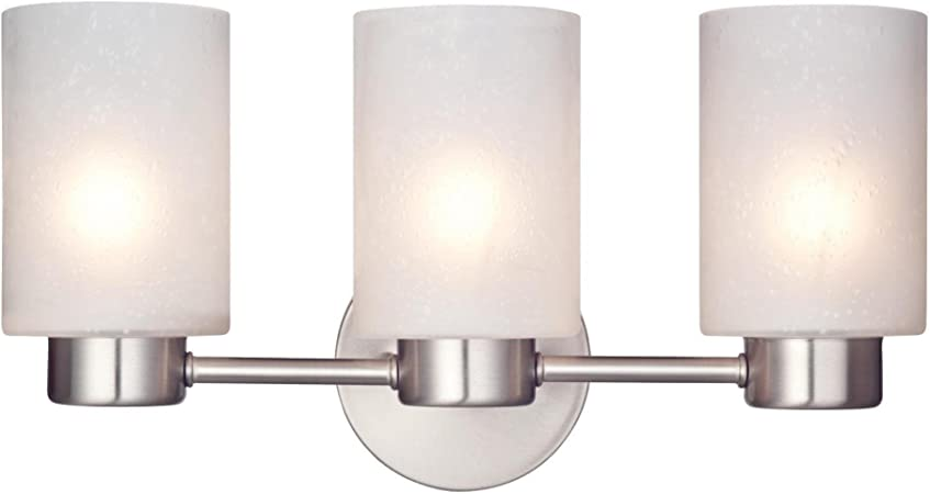 Westinghouse Lighting 62274 Sylvestre Five-Light Indoor Chandelier Brushed Nickel Finish with Frosted Seeded Glass