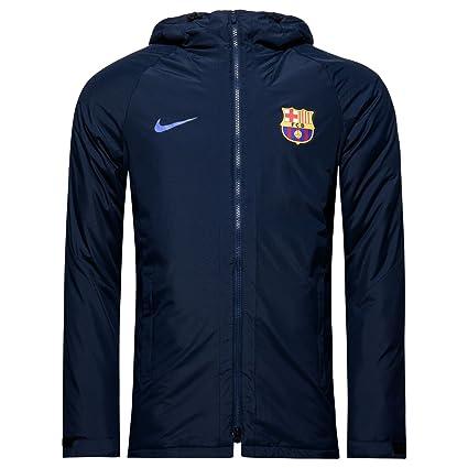 Nike FCB M JKT SQD SDF Chaqueta FC Barcelona, Hombre, Azul ...