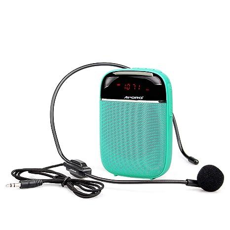 Retekess T3 Amplificador de Voz Portátil Bluetooth 10W Amplificador con Radio FM MP3 con Micrófono para