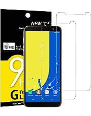NEW'C Verre Trempé pour Samsung Galaxy J6 2018 (SM-J600F),[Pack de 2] Film Protection écran - Anti Rayures - sans Bulles d'air -Ultra Résistant (0,33mm HD Ultra Transparent) Dureté 9H Glass