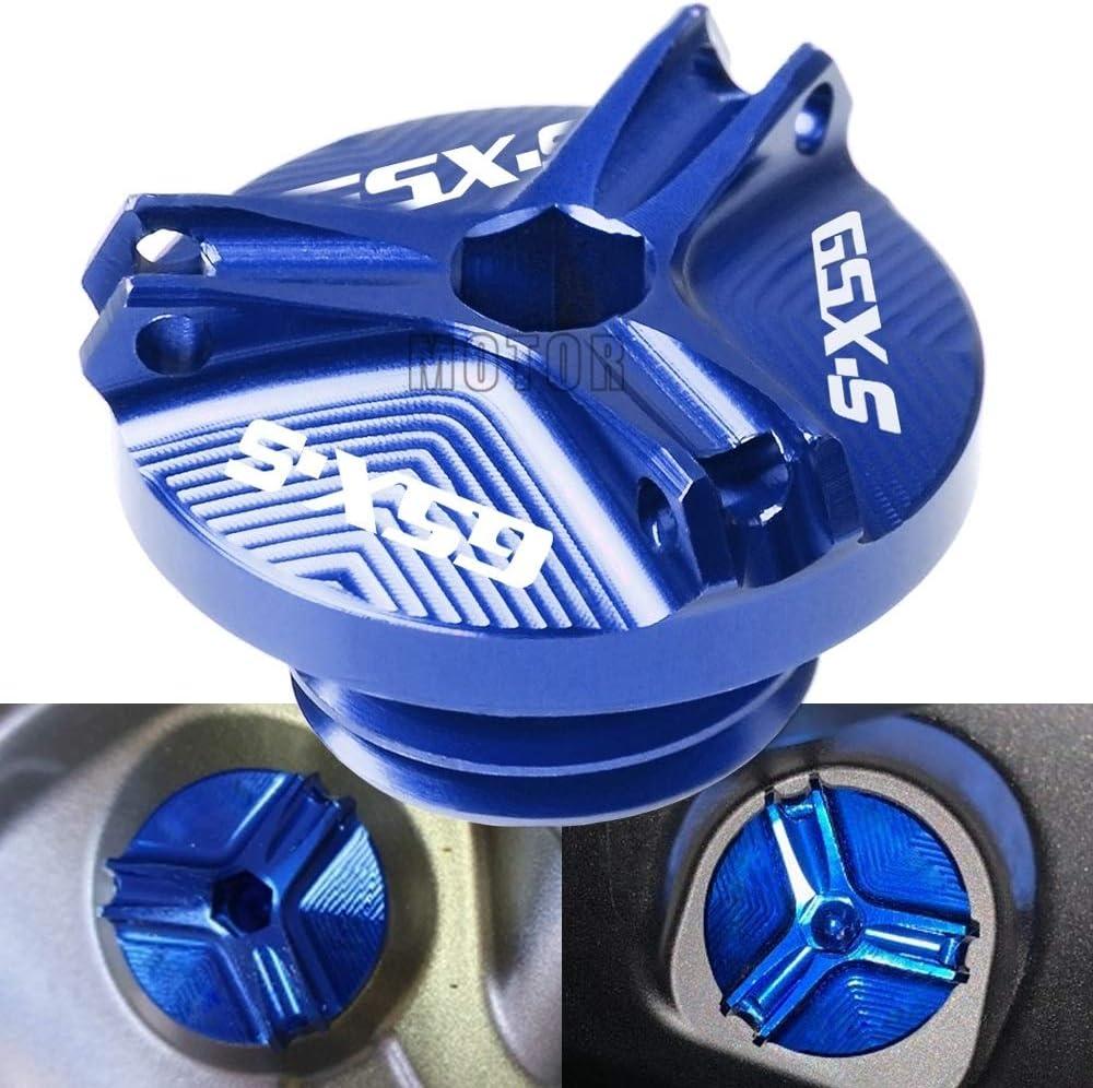 Moto CNC de Remplissage dhuile Bouchon Coupe dhuile Moteur for Suzuki GSXS125 GSXS1000 GSXS750 LIWENCUI Color : Gold F//ABS GSXS150