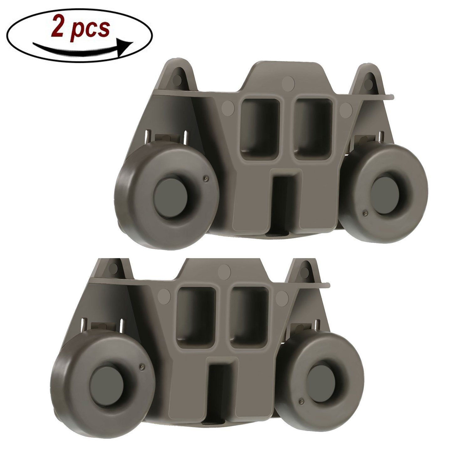 2 Packs W10195416(Upgraded) Lower Dishwasher Wheel Part Assembly Replacement for Maytag/Kitchen Aid/kitchenaid/Whirlpool/Kenmore Dish Rack Replaces AP5983730, W10195416V, PS11722152