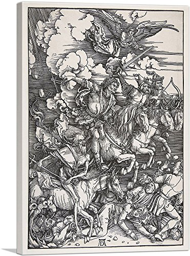 ARTCANVAS The Four Horsemen of The Apocalypse 1498 Canvas Art Print by Albrecht Durer- 26