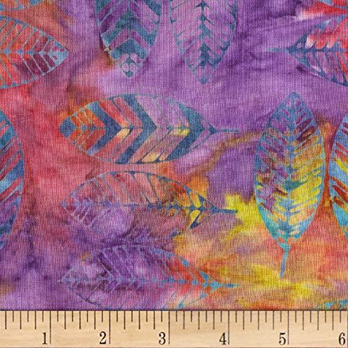 Anthology Batiks Feathers Fantasy, Fabric by the Yard