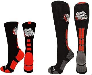 product image for MadSportsStuff Bulldogs Logo Athletic Crew Socks (Multiple Colors)