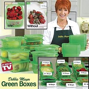 Amazon.com: Debbie Meyer Green Boxes- Food Storage