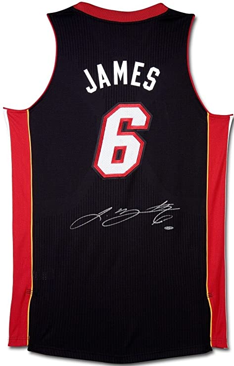sports shoes ead3b c8005 LEBRON JAMES Signed Heat Revolution 30 Black Jersey UDA. at ...