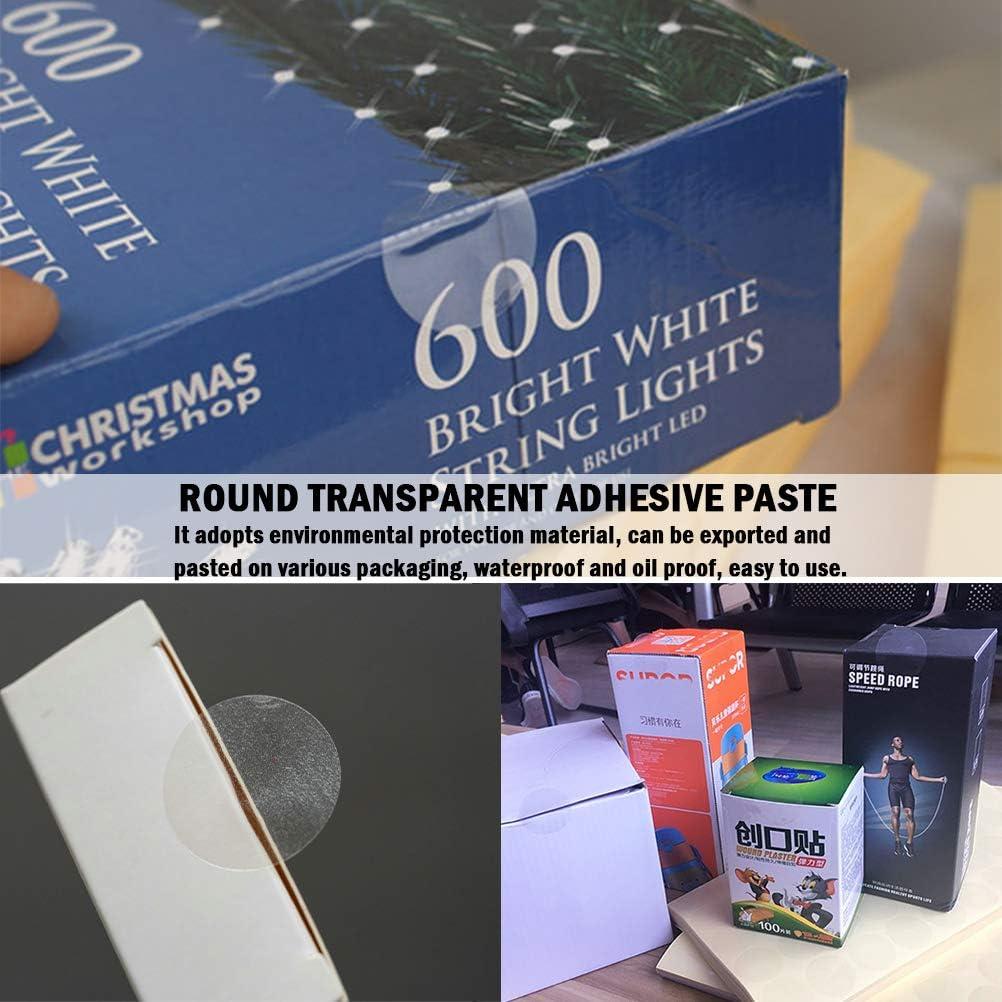 2000 Pezzi Etichette Trasparenti Sigilli Adesivi Rotondi,Diametro 25 mm Adesivi Trasparenti Etichette Sigillanti per Buste Confezione Regalo e Artigianato